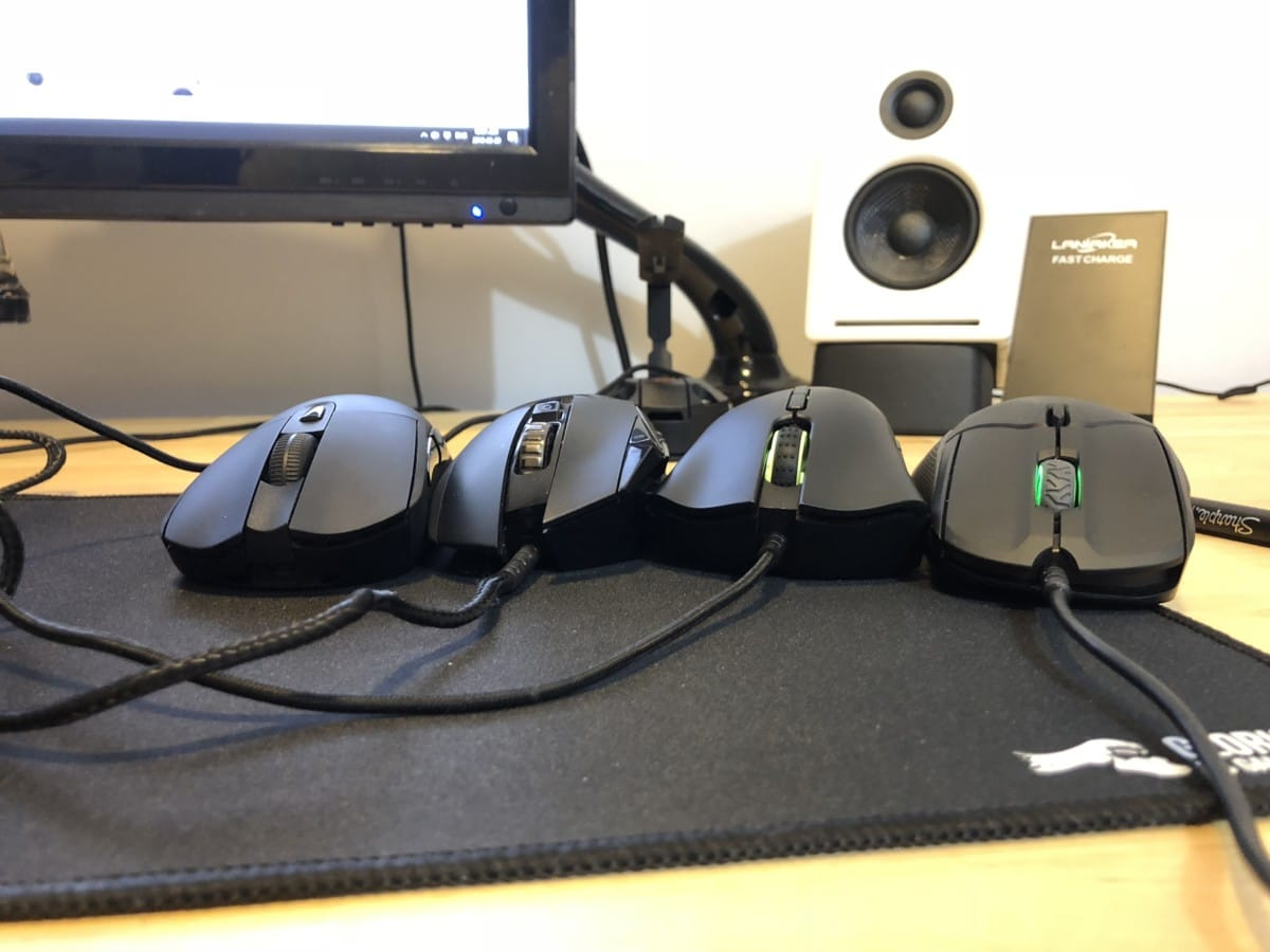 Steelseries Rival 310 - front height comparison