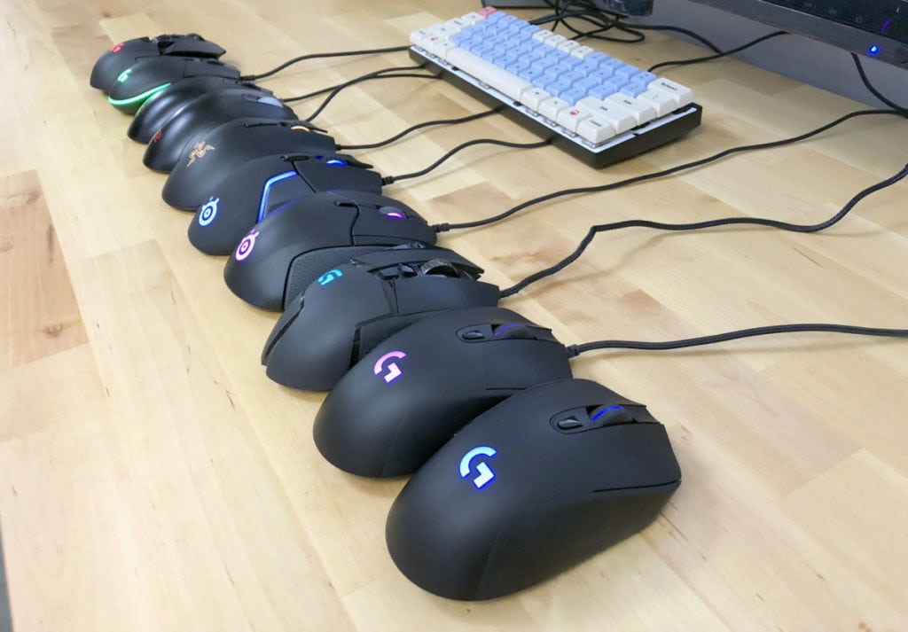 Gaming mice come in a variety of shapes
