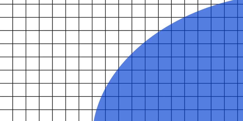 Square pixels, round shape