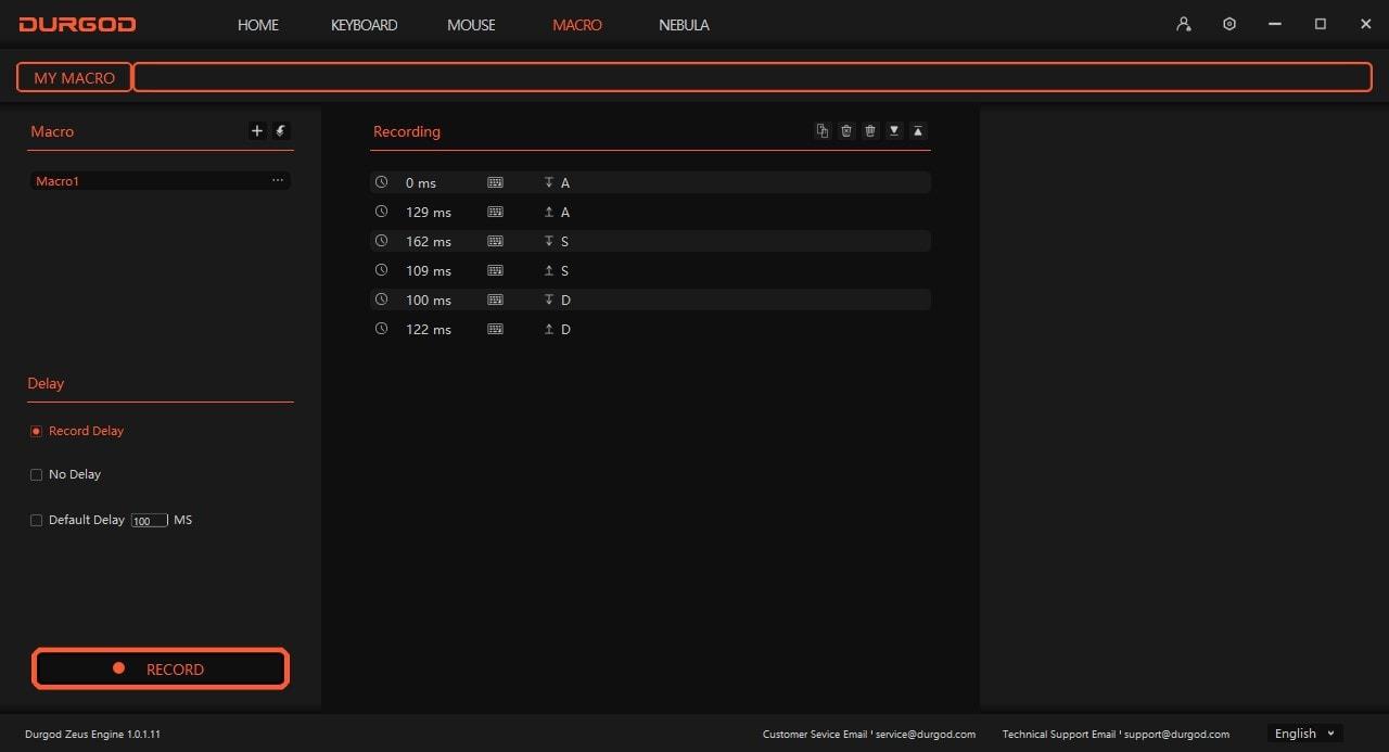 Durgod Taurus - Macro Editor