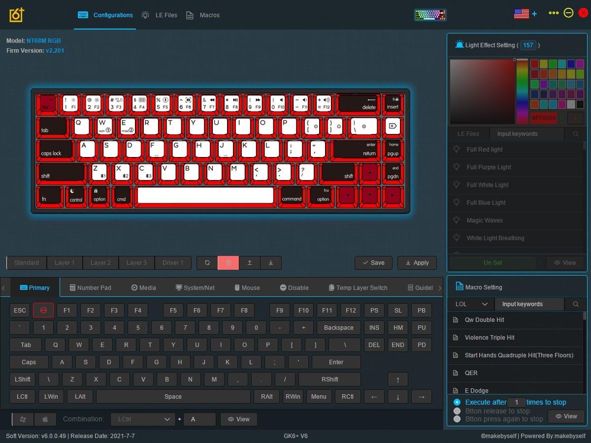 Epomaker NT68 - Software