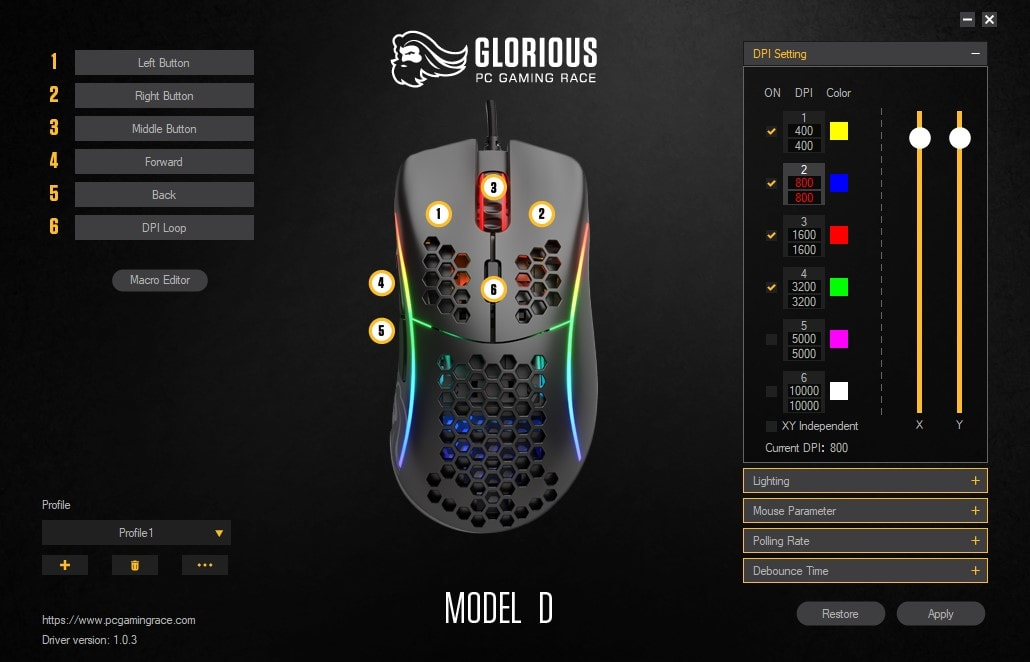 Glorious Model D - Software
