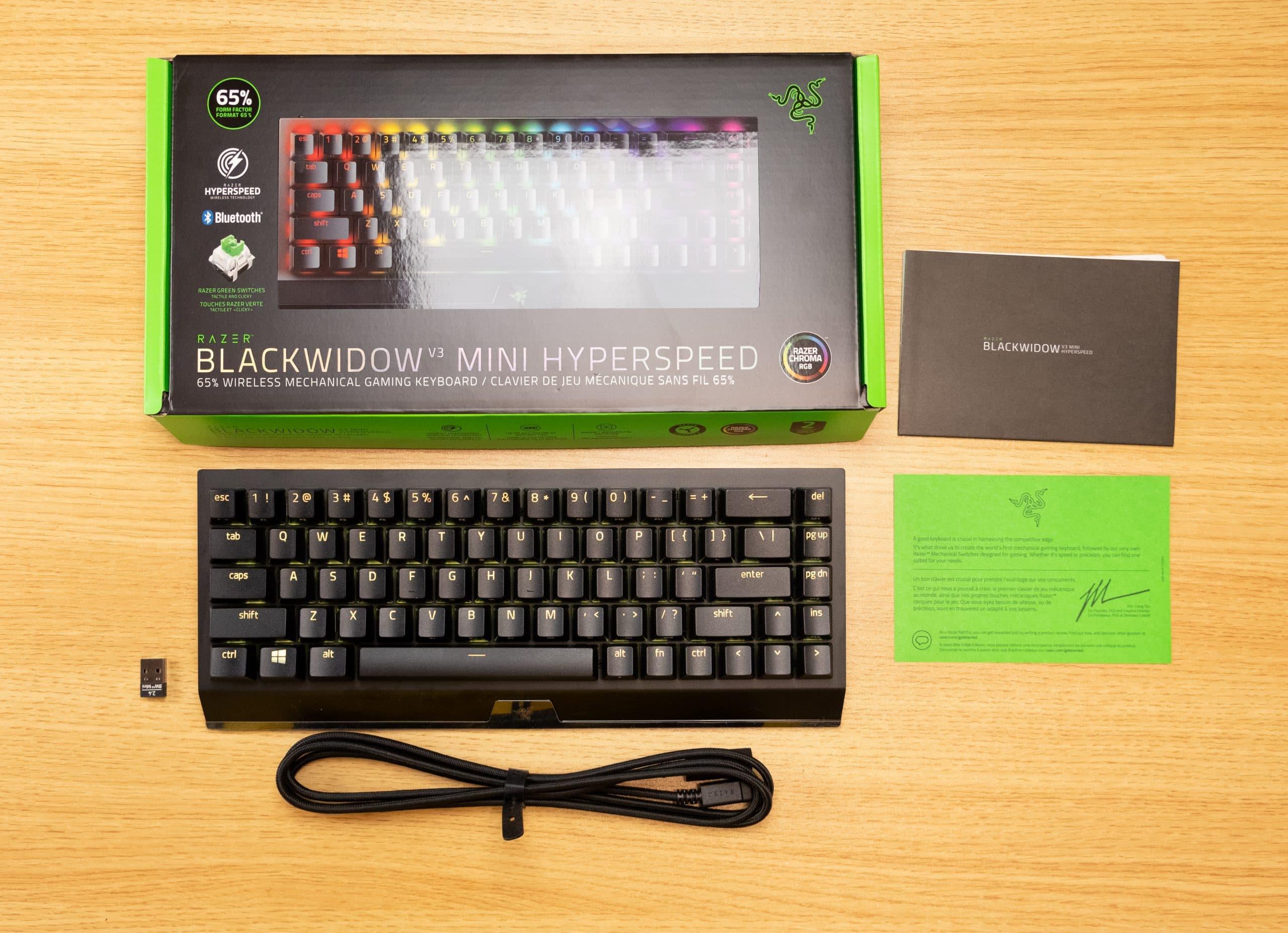 Razer BlackWidow Mini v3 - In the box