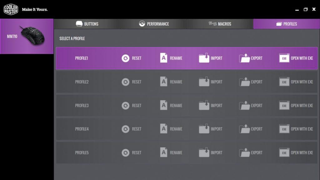 Cooler Master Portal Profile Tab