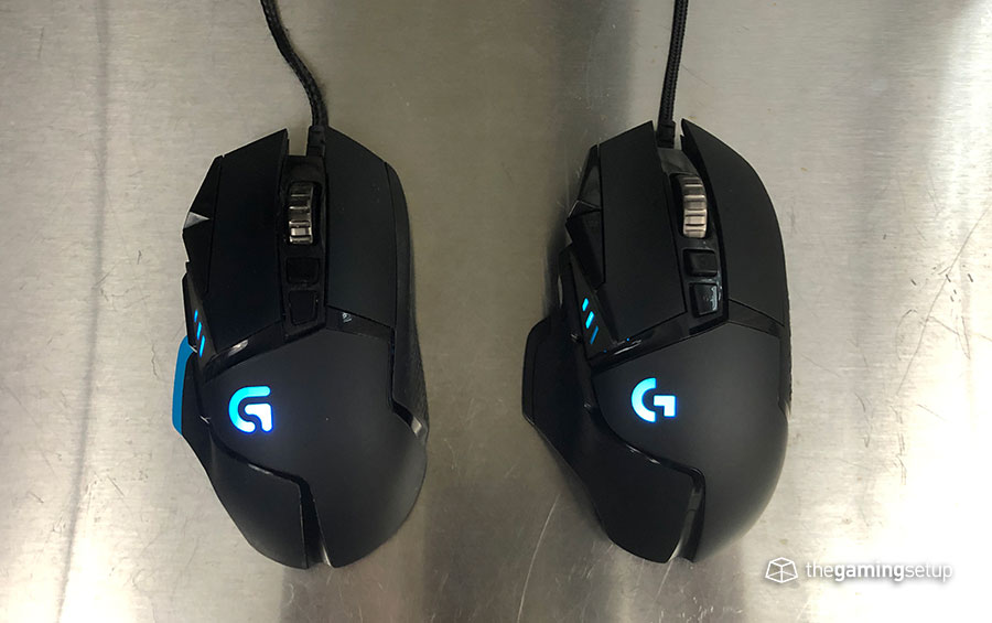 Logitech G502 Top compared, core vs hero