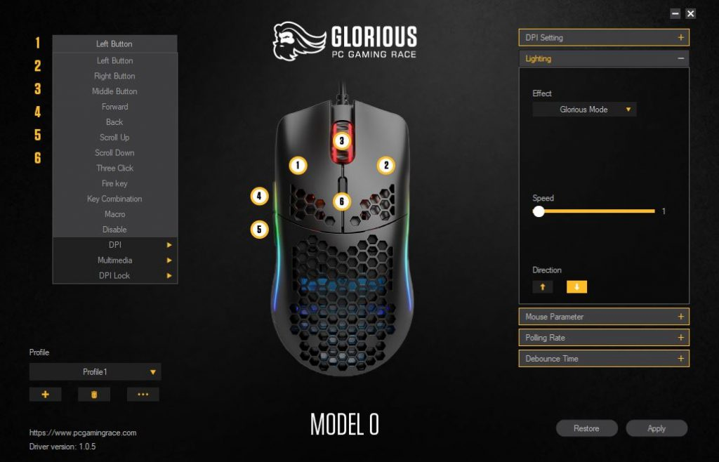 Glorious Model O Software