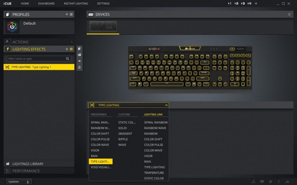 Corsair iCue Software - Lighting