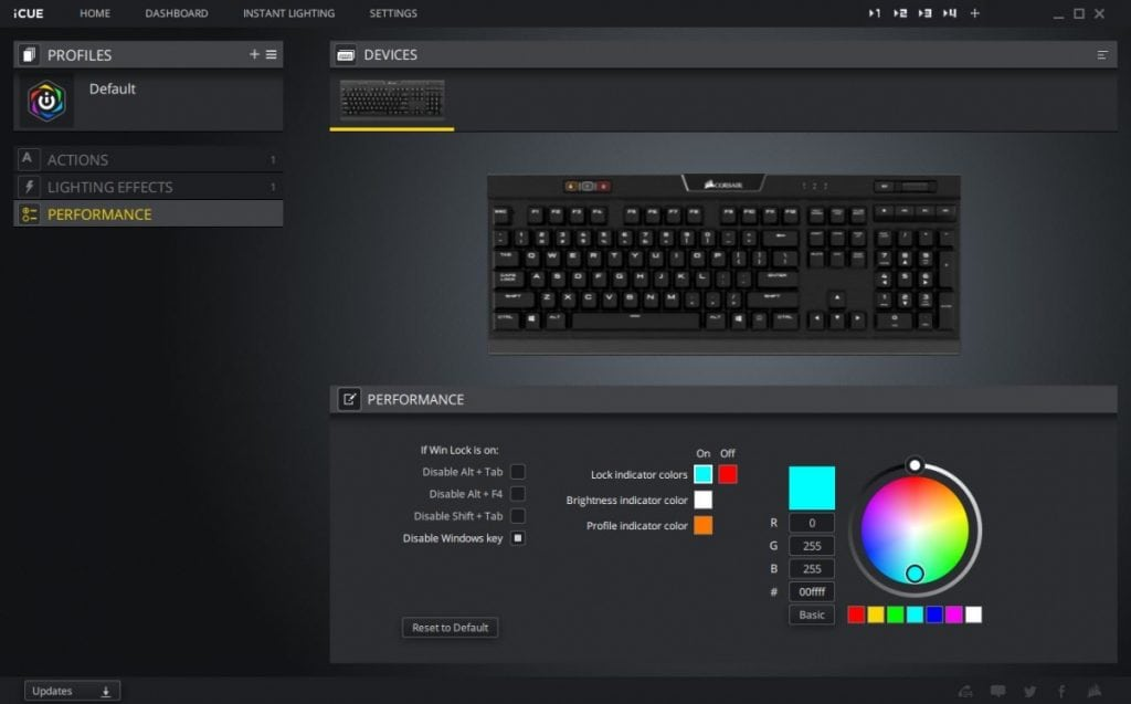 Corsair iCue Software - Performance
