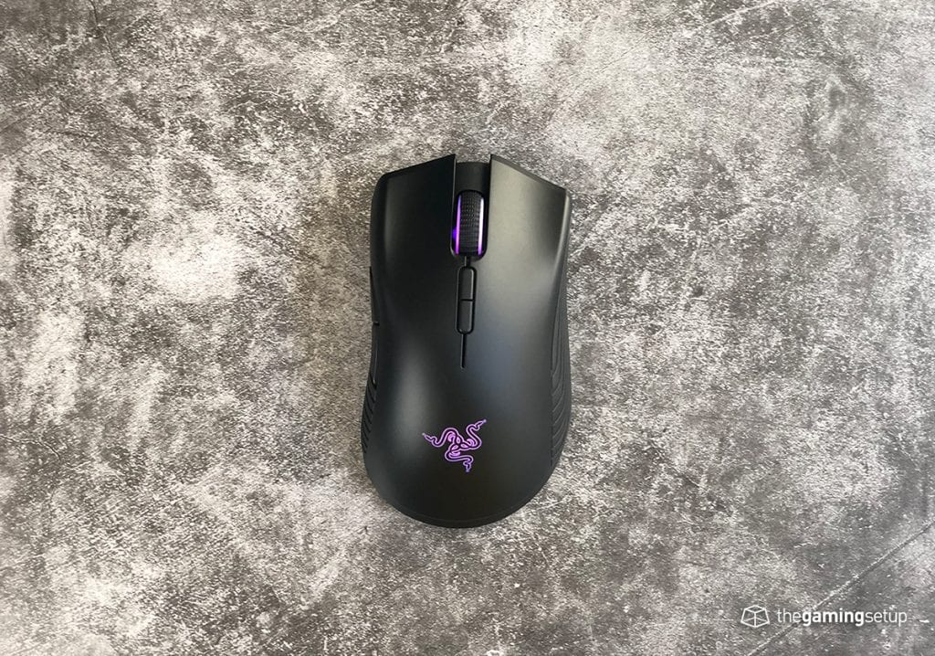 Razer Mamba Wireless top purple LED