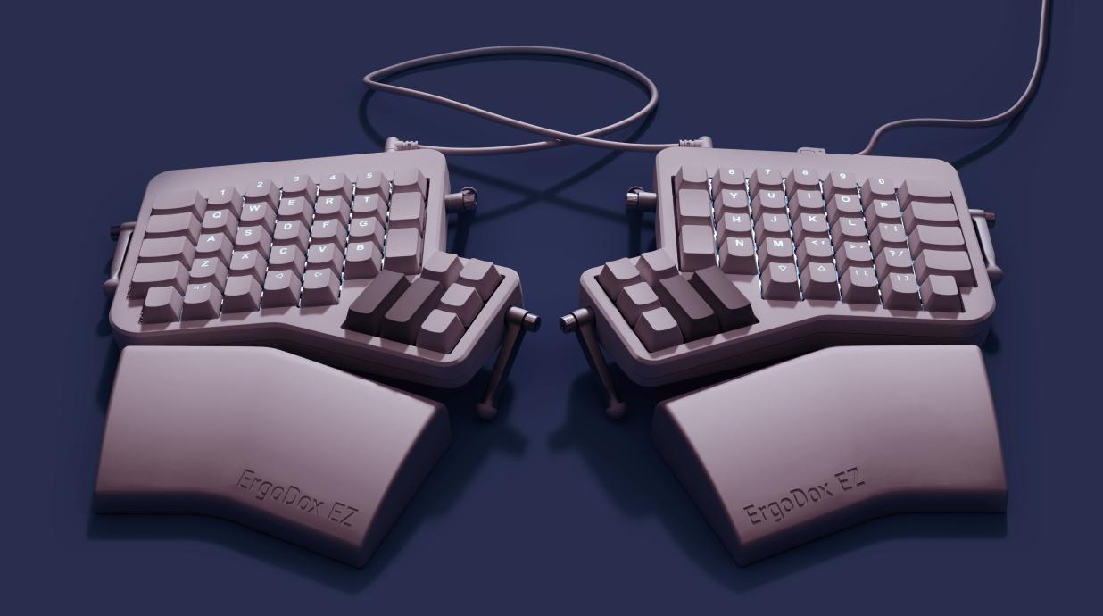 Split Layout Keyboard