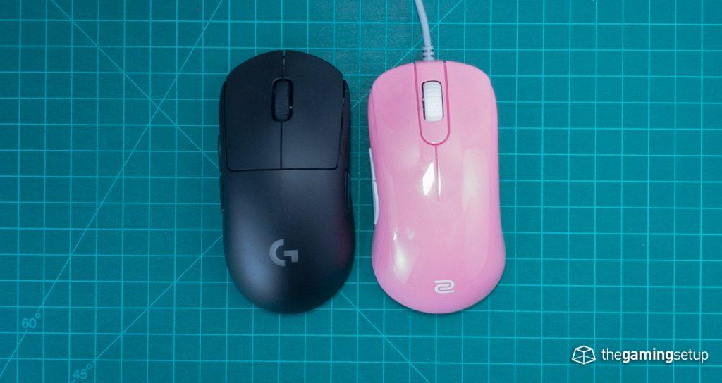 Zowie S2 vs G Pro Wireless top
